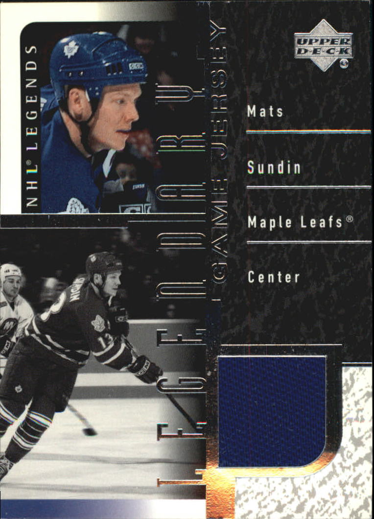 2000-01 Upper Deck Legends Legendary Game Jerseys #JMS Mats Sundin