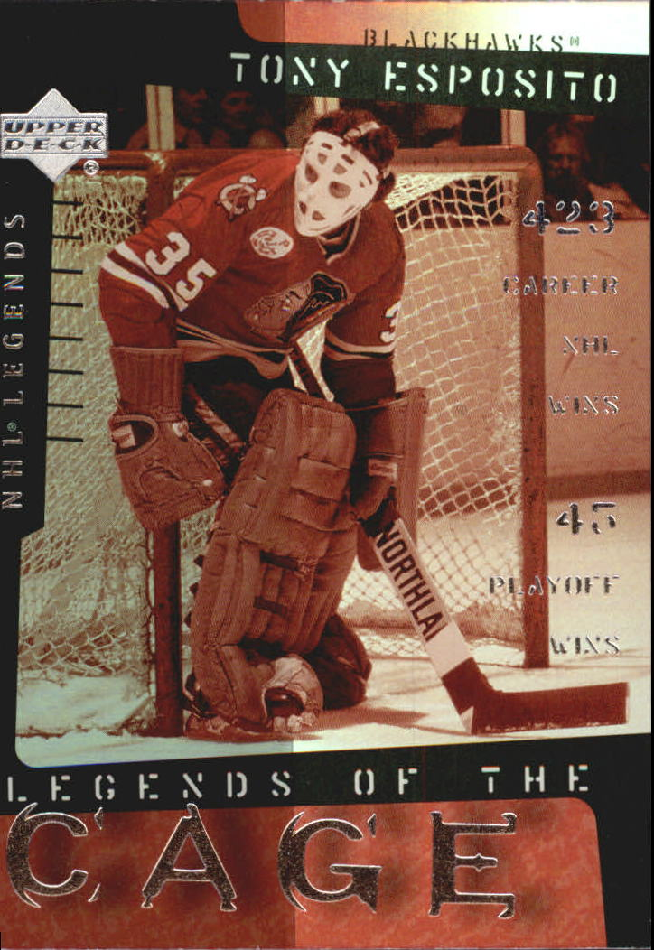 2000-01 Upper Deck Legends of the Cage #LC10 Tony Esposito front image