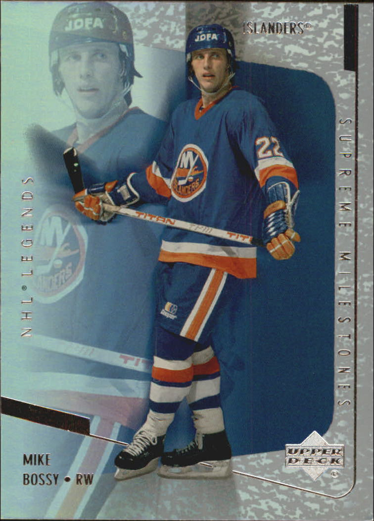 2000-01 Upper Deck Legends Supreme Milestones #SM12 Mike Bossy front image