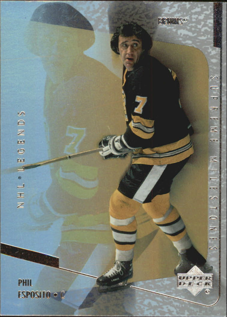 2000-01 Upper Deck Legends Supreme Milestones #SM13 Phil Esposito