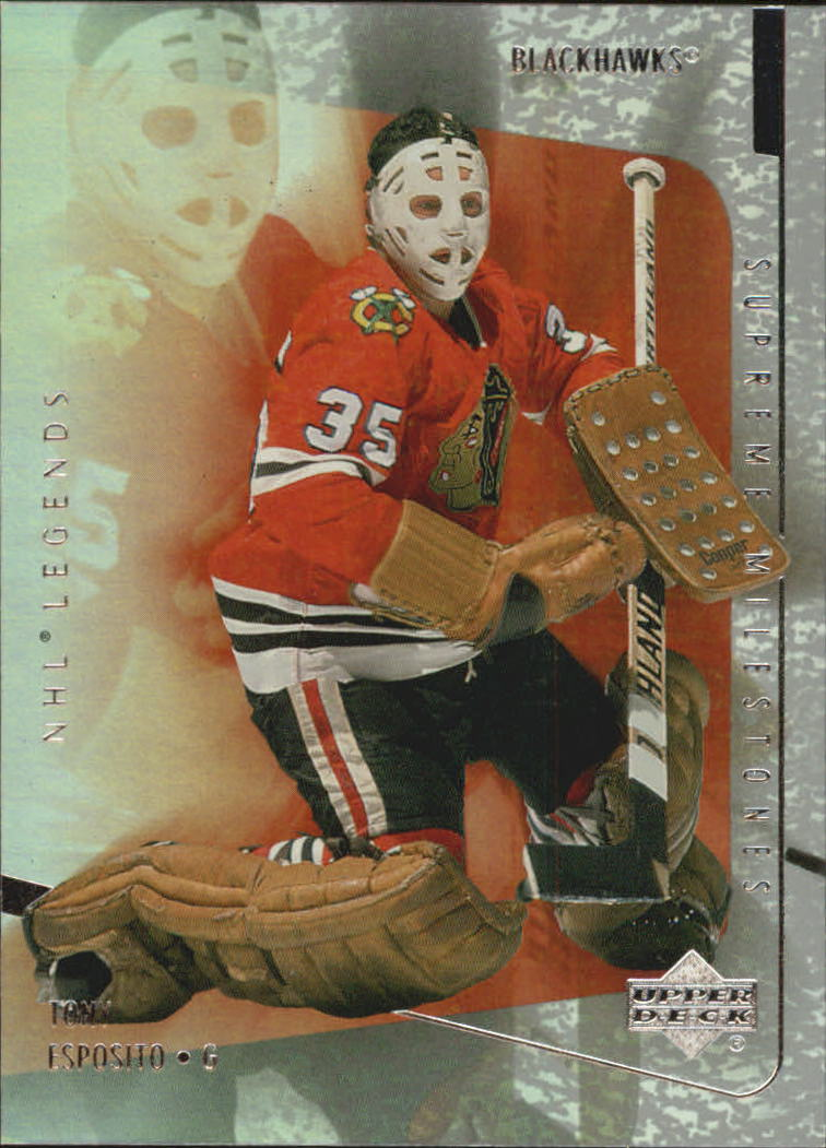 2000-01 Upper Deck Legends Supreme Milestones #SM14 Tony Esposito front image