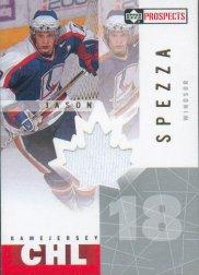 2000-01 UD CHL Prospects Game Jerseys #JA Jason Spezza Win