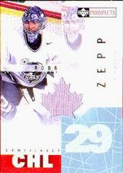2000-01 UD CHL Prospects Game Jerseys #RZ Rob Zepp
