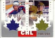 2000-01 UD CHL Prospects Game Jerseys #ST J.Spezza/R.Torres