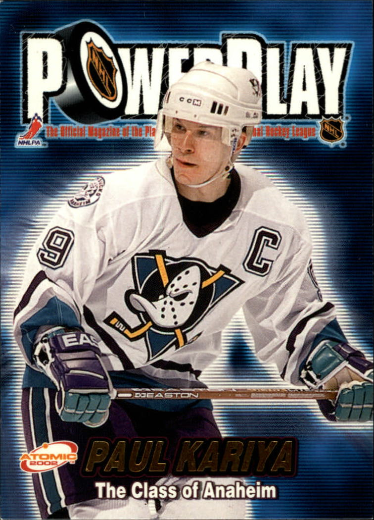 2001-02 Atomic Power Play #1 Paul Kariya