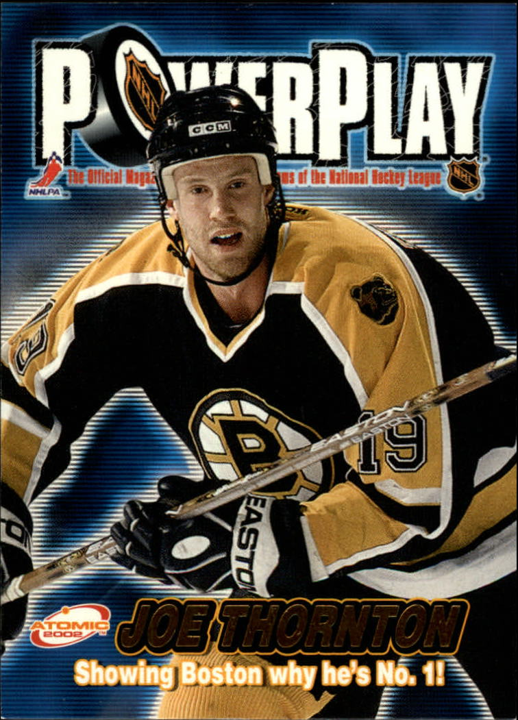 2001-02 Atomic Power Play #4 Joe Thornton