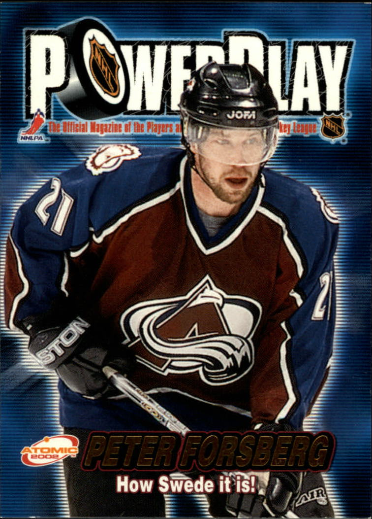 2001-02 Atomic Power Play #8 Peter Forsberg