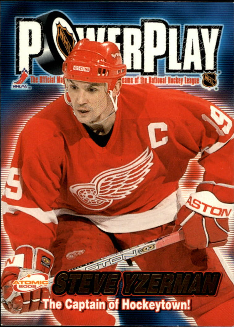 2001-02 Atomic Power Play #14 Steve Yzerman
