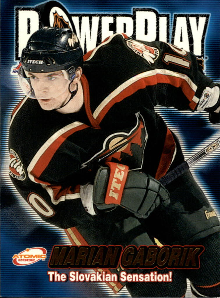 2001-02 Atomic Power Play #18 Marian Gaborik
