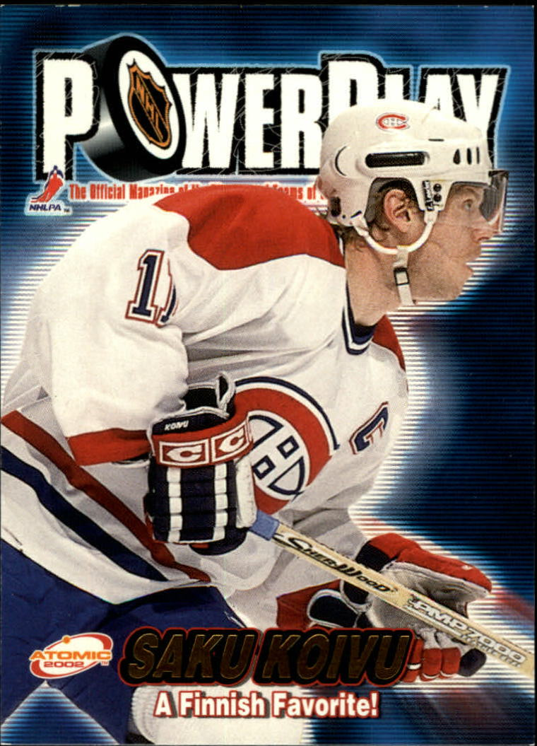 2001-02 Atomic Power Play #19 Saku Koivu