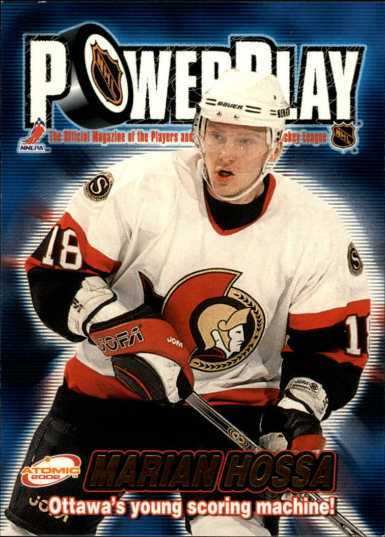2001-02 Atomic Power Play #25 Marian Hossa