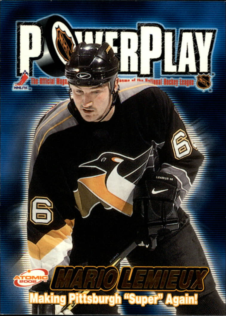2001-02 Atomic Power Play #27 Mario Lemieux