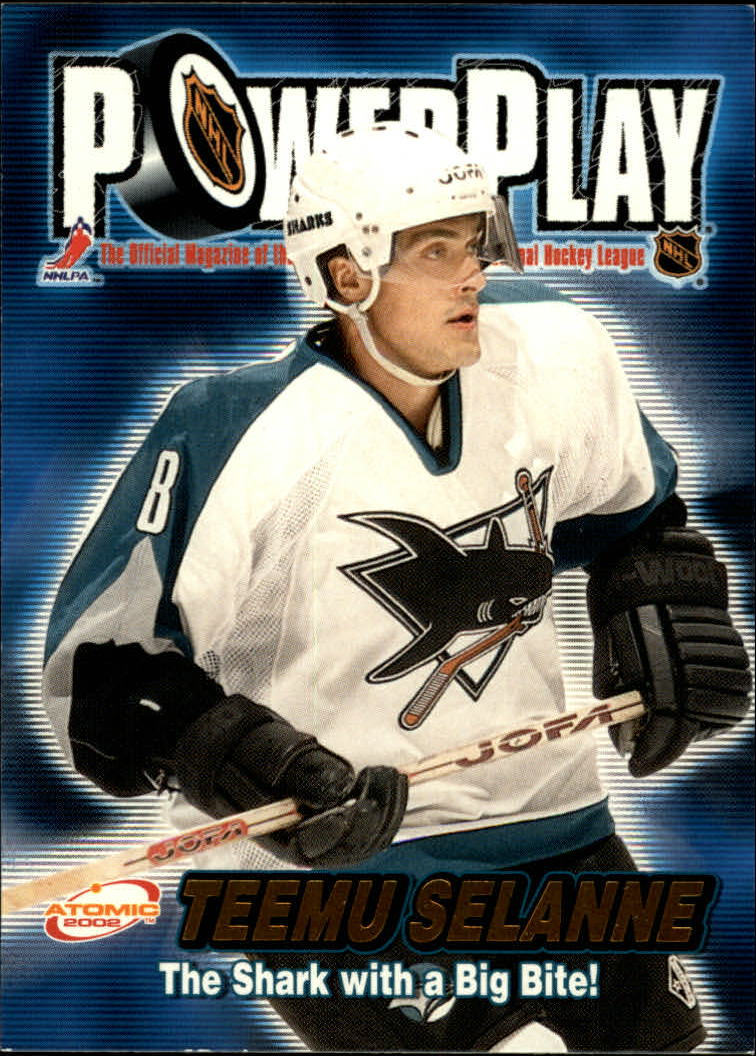 2001-02 Atomic Power Play #30 Teemu Selanne