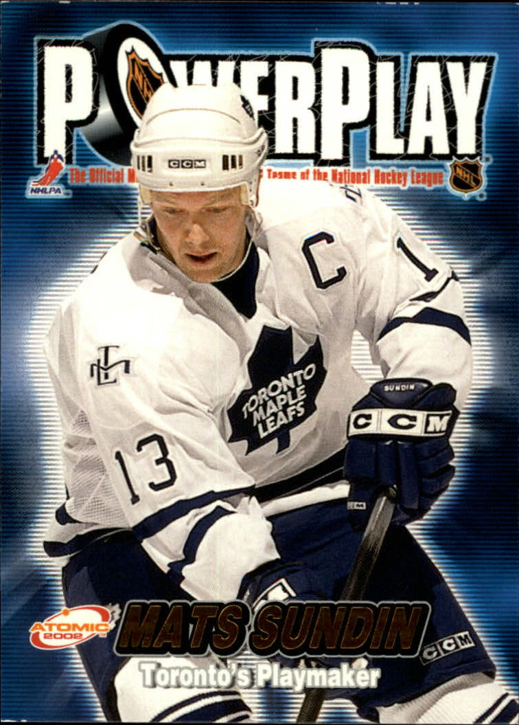 2001-02 Atomic Power Play #32 Mats Sundin