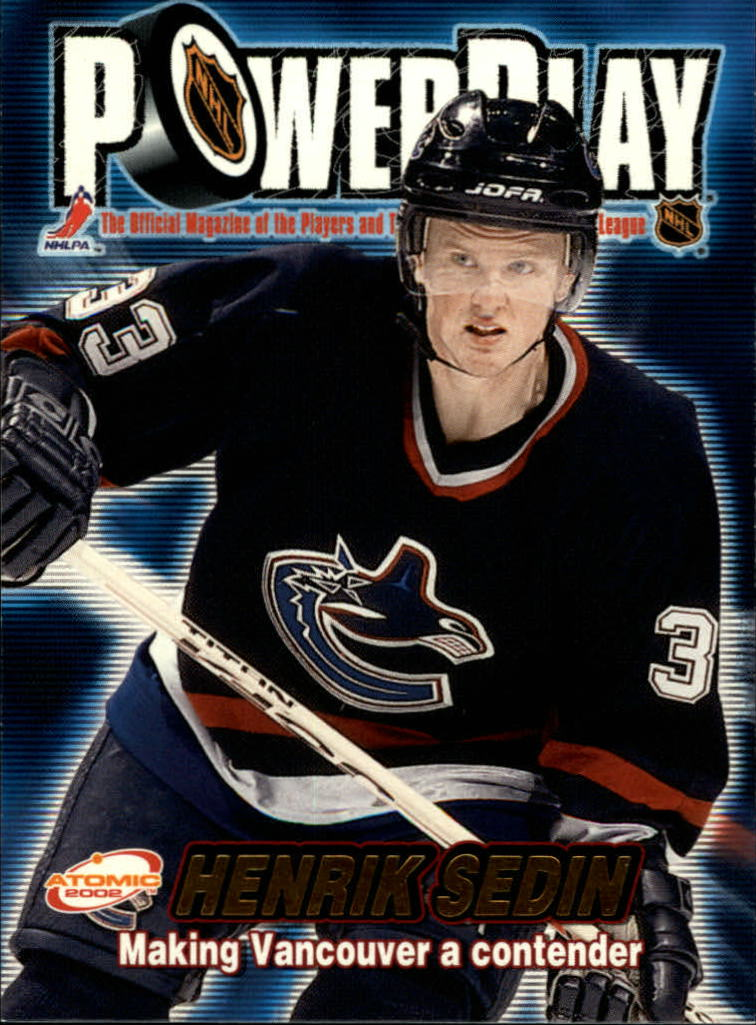 2001-02 Atomic Power Play #34 Henrik Sedin