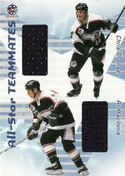 2001-02 BAP Memorabilia All-Star Teammates #AST16 Chris Pronger/Al MacInnis