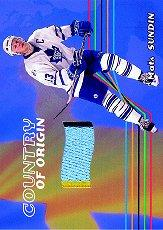 2001-02 BAP Memorabilia Country of Origin #CO54 Mats Sundin