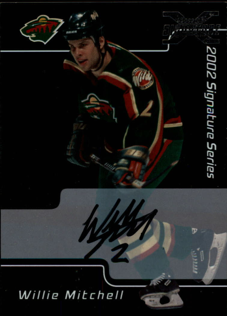 2001-02 BAP Signature Series Autographs #62 Willie Mitchell