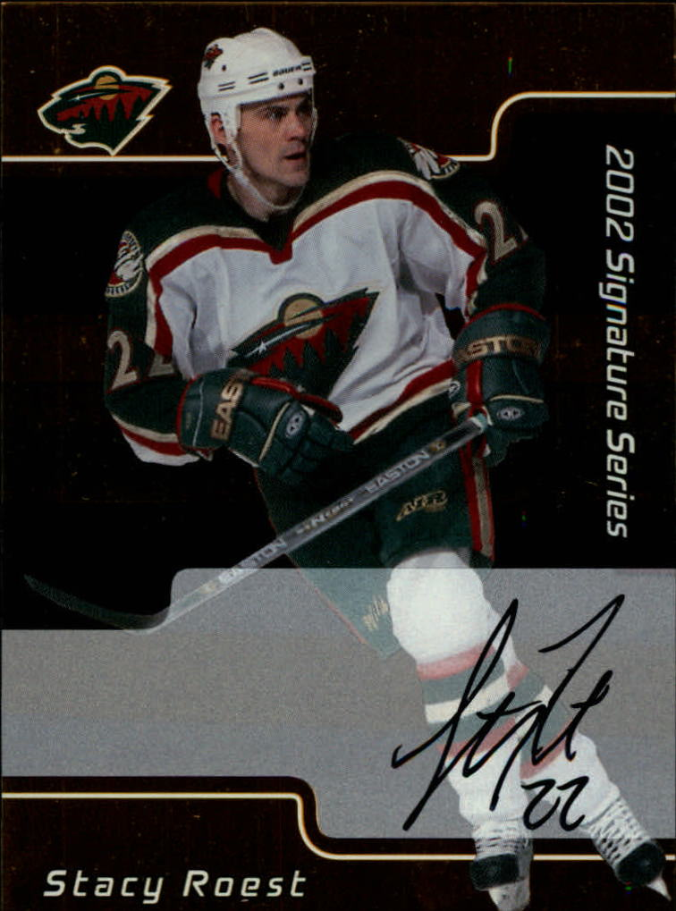 2001-02 BAP Signature Series Autographs Gold #135 Stacy Roest