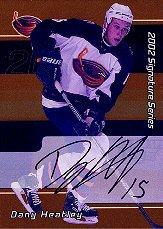 2001-02 BAP Signature Series Autographs Gold #226 Dany Heatley