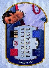 2001-02 BAP Ultimate Memorabilia Complete Package #5 Guy Lafleur
