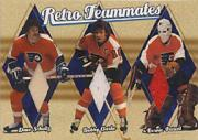 2001-02 BAP Ultimate Memorabilia Retro Teammates #6 Bobby Clarke/Bill Barber/Dave Schultz/30