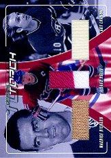 2001-02 BAP Update Passing the Torch #PTT4 Rocket Richard/Guy Lafleur/Saku Koivu
