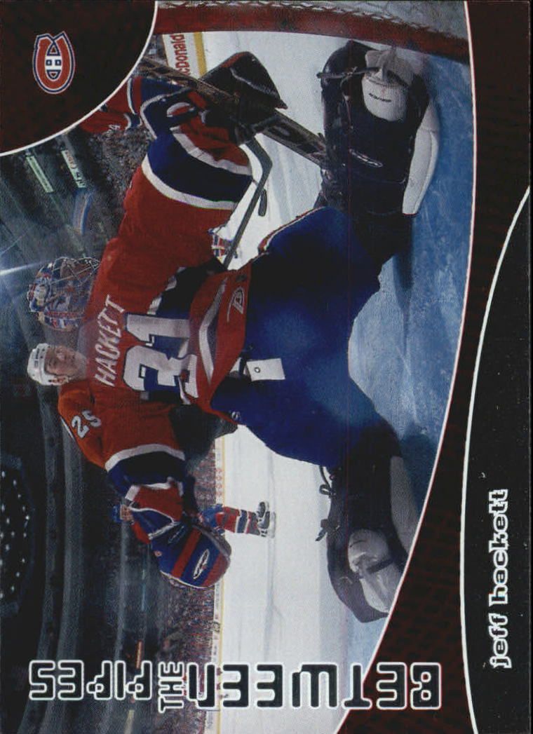 2001-02 Between the Pipes #100 Jeff Hackett