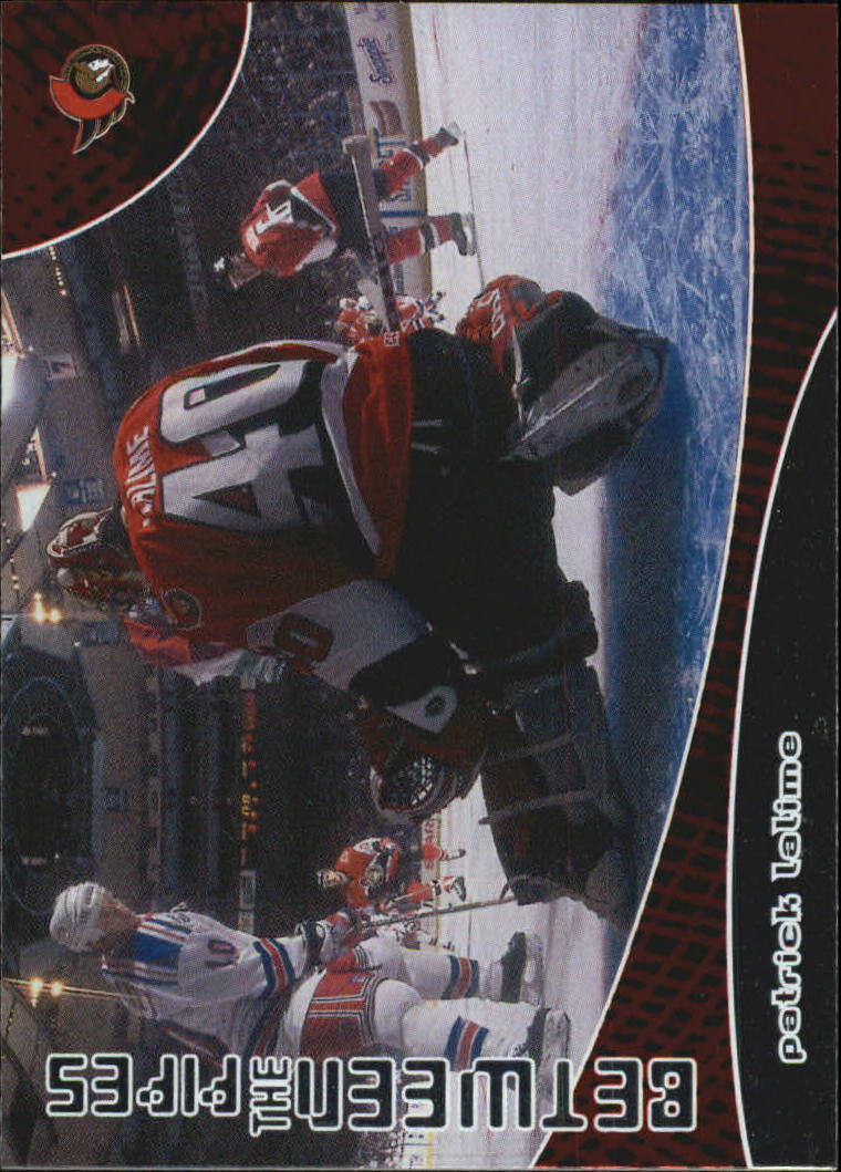 2001-02 Between the Pipes #104 Patrick Lalime