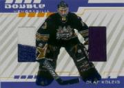 2001-02 Between the Pipes Double Memorabilia #DM4 Olaf Kolzig