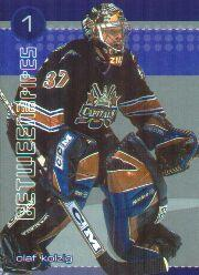 2001-02 Between the Pipes He Shoots He Saves Points #5 Olaf Kolzig 1pt.