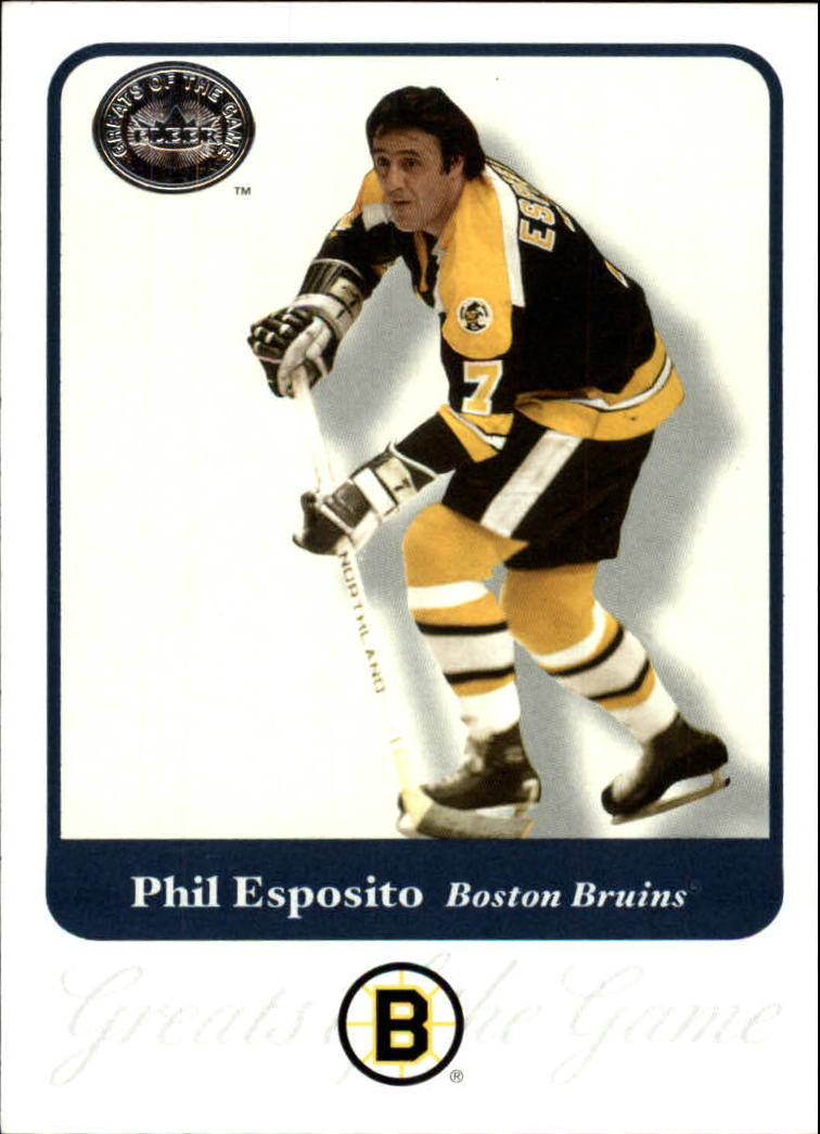 2001-02 Greats of the Game #5 Phil Esposito front image