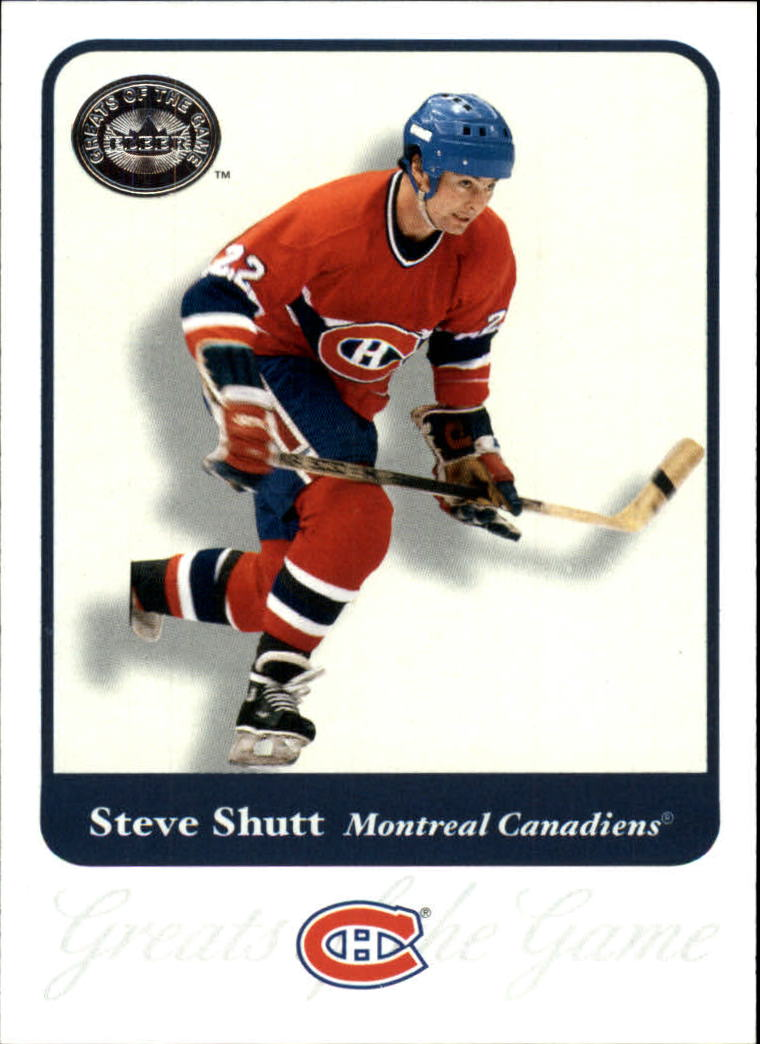 2001-02 Greats of the Game #12 Steve Shutt