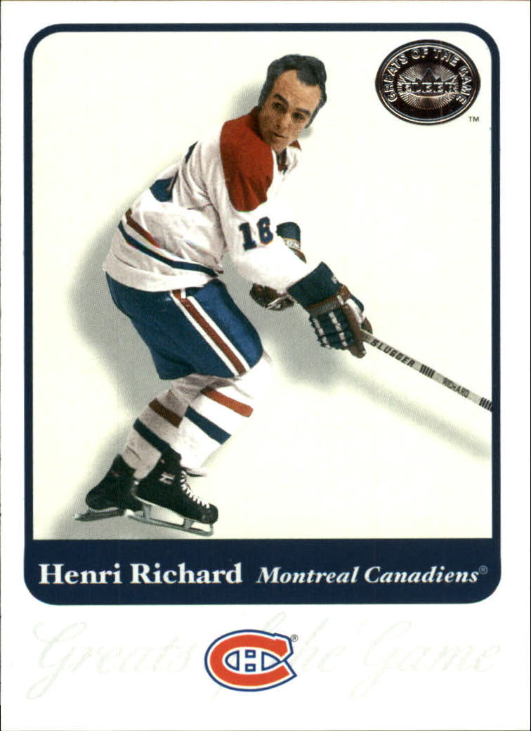 2001-02 Greats of the Game #13 Henri Richard