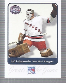 2001-02 Greats of the Game #21 Ed Giacomin
