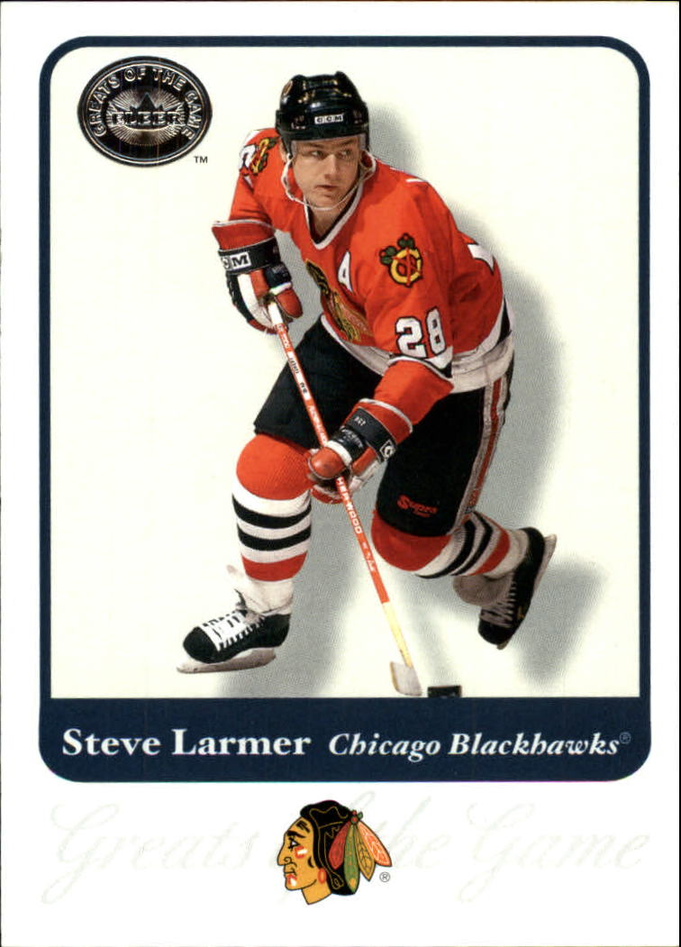 2001-02 Greats of the Game #24 Steve Larmer