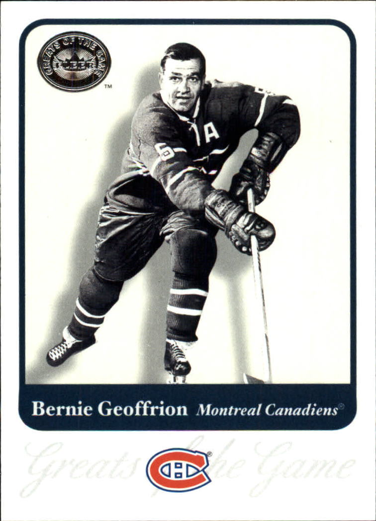 2001-02 Greats of the Game #37 Bernie Geoffrion