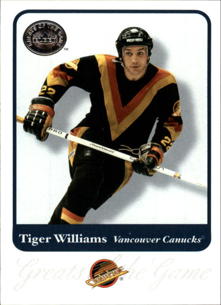 2001-02 Greats of the Game #39 Tiger Williams