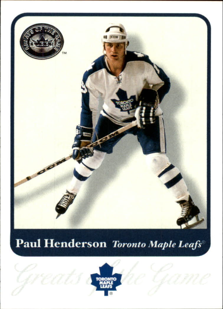 2001-02 Greats of the Game #42 Paul Henderson