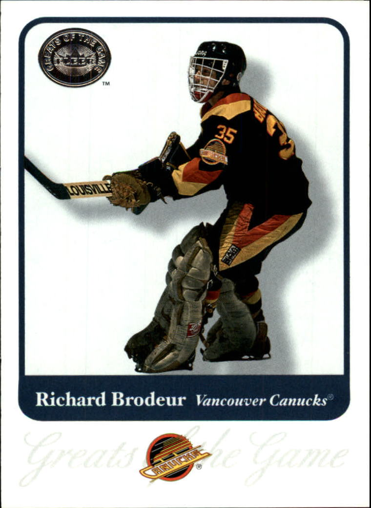 2001-02 Greats of the Game #48 Richard Brodeur