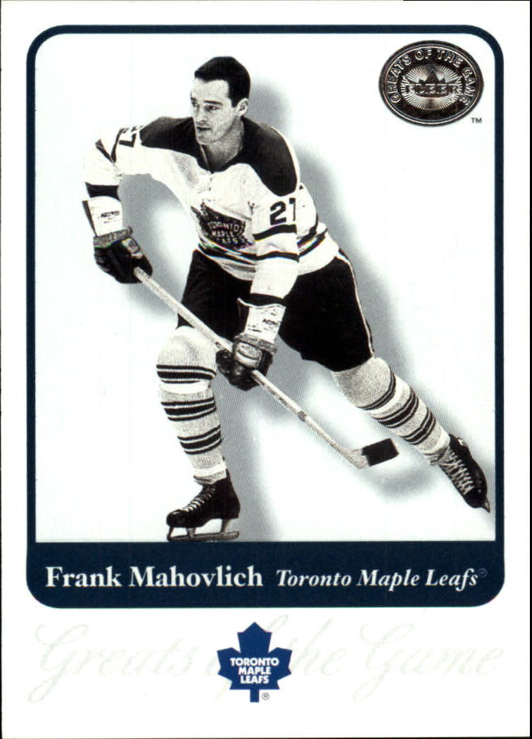 2001-02 Greats of the Game #55 Frank Mahovlich