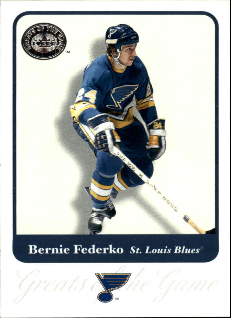 2001-02 Greats of the Game #63 Bernie Federko