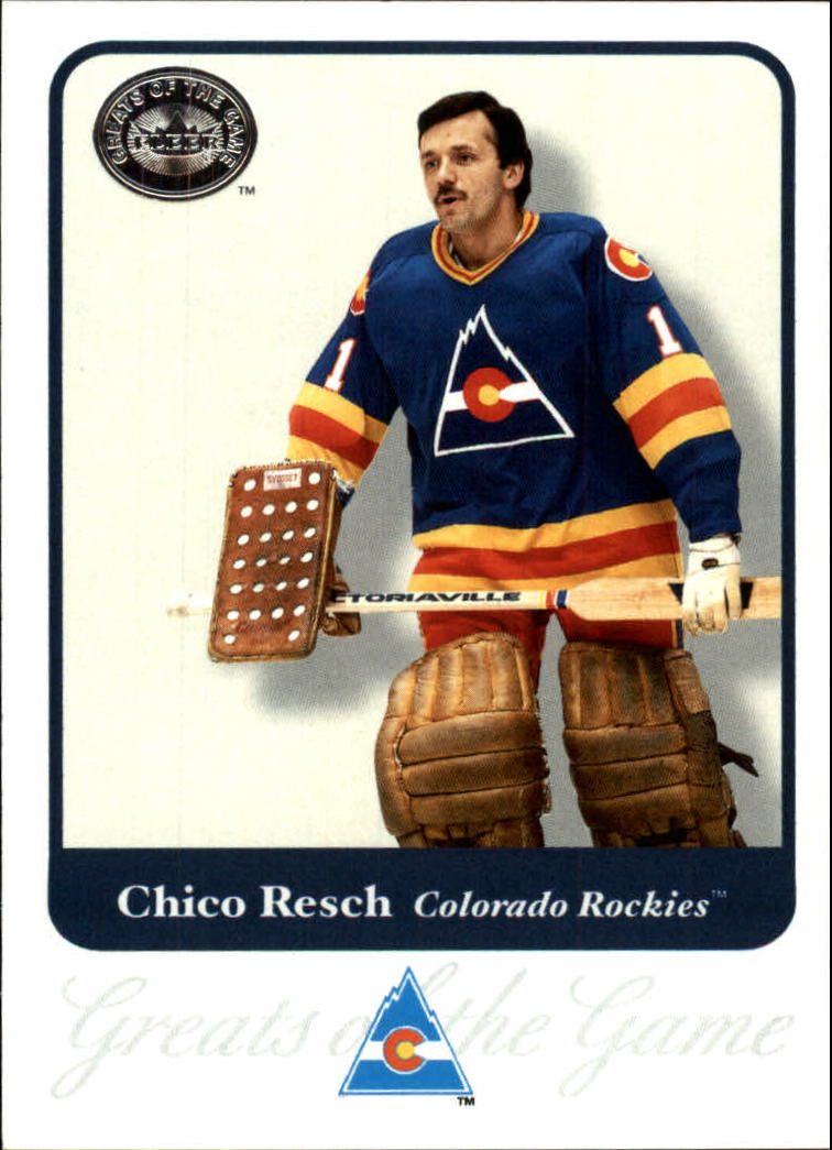 2001-02 Greats of the Game #64 Chico Resch front image