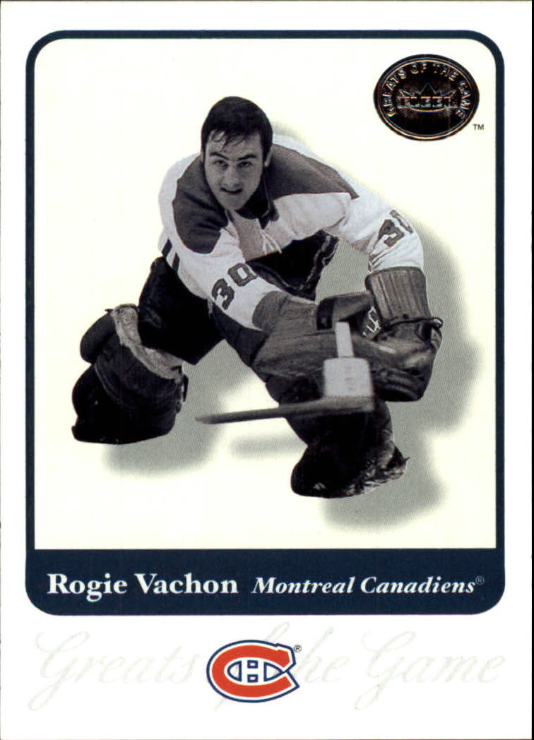 2001-02 Greats of the Game #68 Rogie Vachon