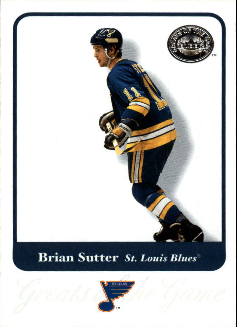 2001-02 Greats of the Game #69 Brian Sutter