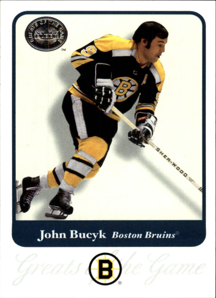 2001-02 Greats of the Game #76 John Bucyk