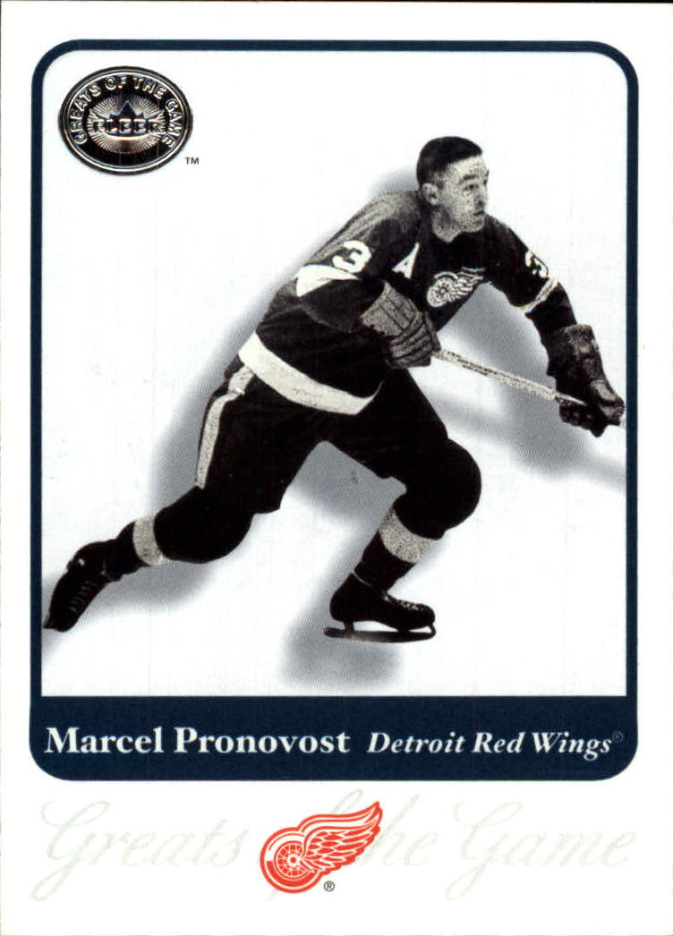 2001-02 Greats of the Game #84 Marcel Pronovost