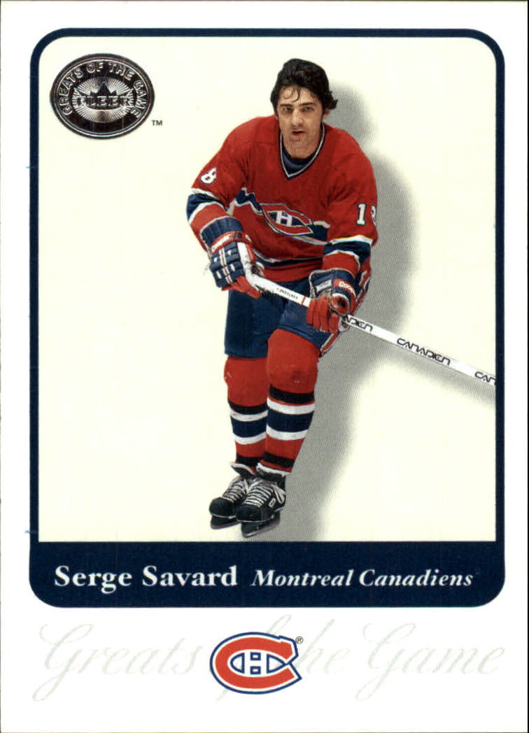 2001-02 Greats of the Game #85 Serge Savard