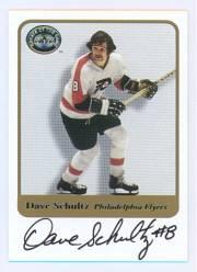 2001-02 Greats of the Game Autographs #45 Dave Schultz