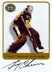2001-02 Greats of the Game Autographs #60 Gerry Cheevers